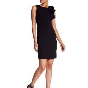 Calvin Klein Sleeveless Ruffle Sheath Dress Sz 4